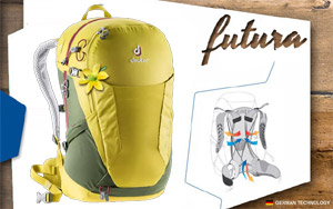 Рюкзак Deuter Futura 22 SL | 2246 greencurry khaki