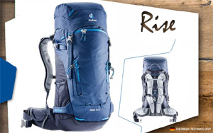 Рюкзак Deuter Rise 34 + | 3130 steel-navy