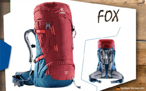 Рюкзак Deuter Fox 40 | 5316 cranberry-steel